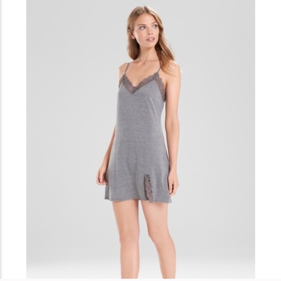 2e4ccf1164 josie natori lingerie sleepwear chemise grey small